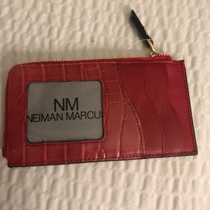 Neiman Marcus Leather Card Stacker/Wallet New/Tag